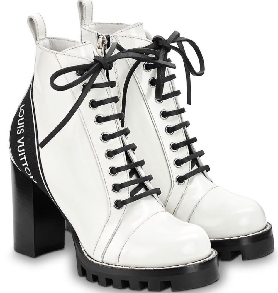 Louis Vuitton White LV Ankle Boots