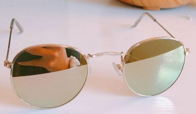 Round Reflective Sunglasses