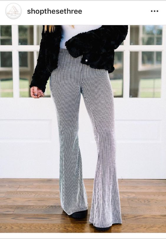 These Three Boutique Striped Flare Pants