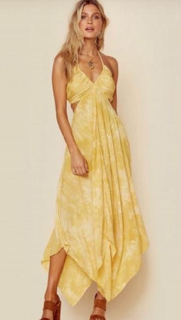 Blue Life Yellow Summer Breeze Dress