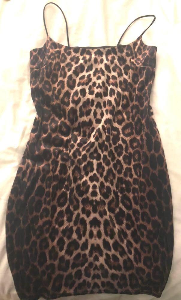Nasty Gal Velvet Cheetah Print Dress