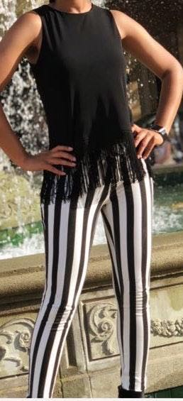 Black And White Jeggings