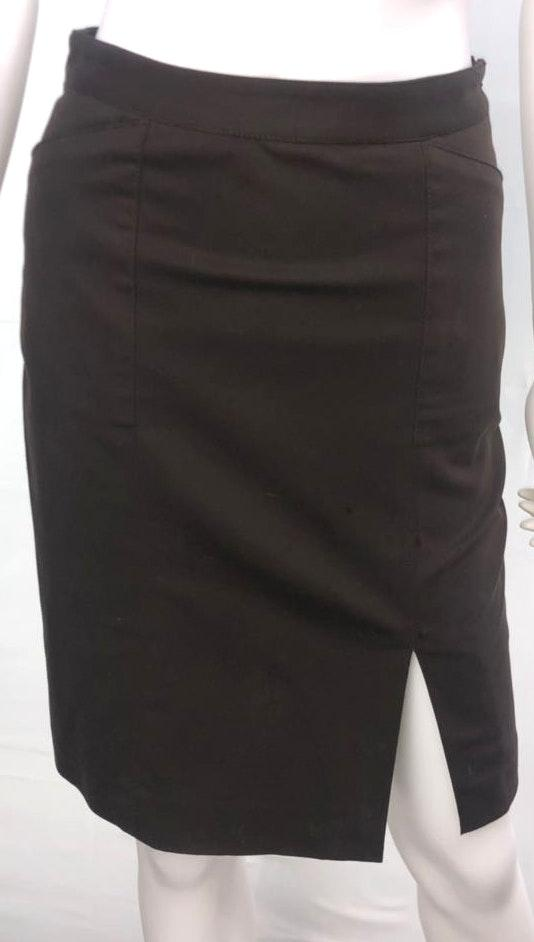 Club Monaco Women's Size 0 Brown Double Layered Straight Pencil Skirt