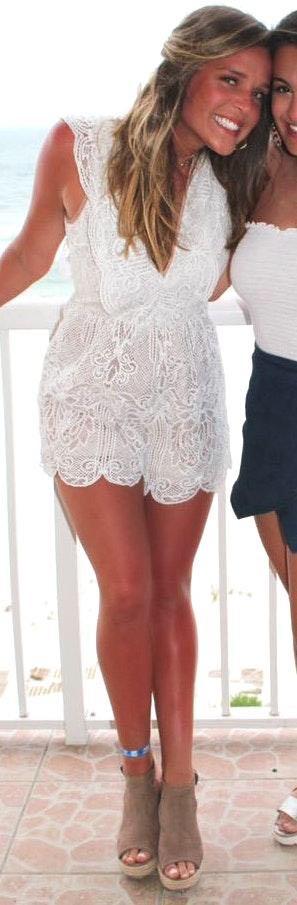 Macy's White Romper