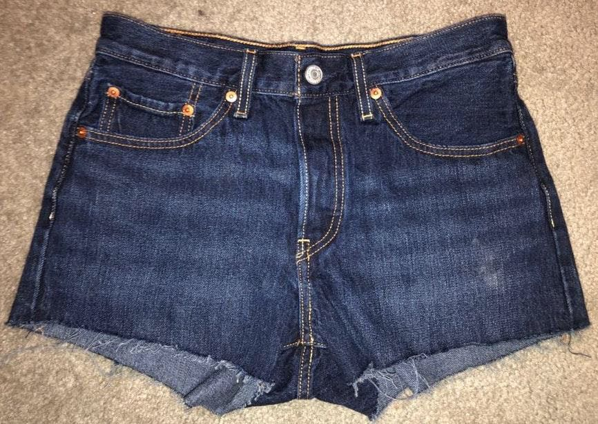Levi's Dark Wash Jean Shorts