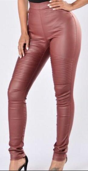 Material Girl burgundy faux leather jeggings