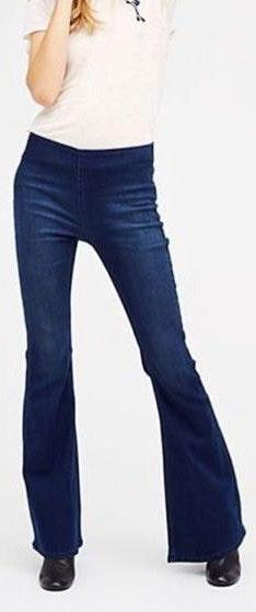 Free People Penny Pull Flare Jeans