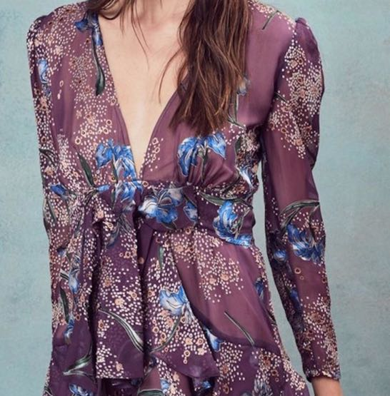 40f4526f081 For Love & Lemons Cleo Mini Party Dress Violet Orchid