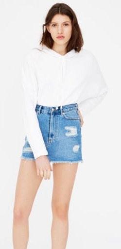 Pull & Bear Denim Skirt
