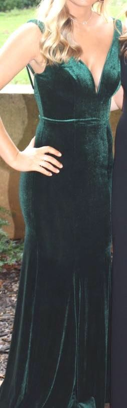 Emerald Green Velvet Formal Dress