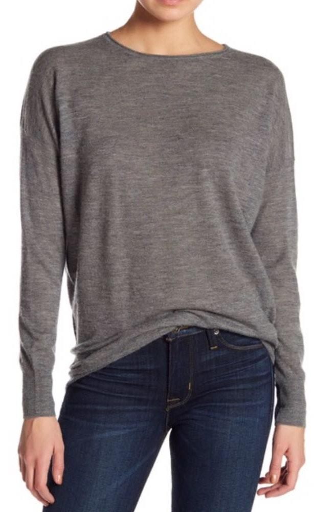 Vince NWT Gray Cashmere Sweater