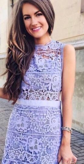Goodnight Macaroon Purple Lace Dress