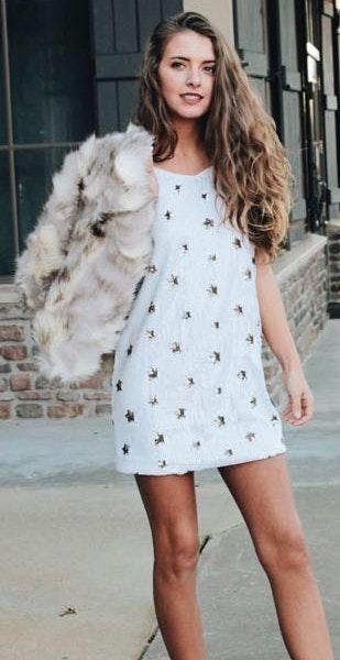 Sequin Star Dress