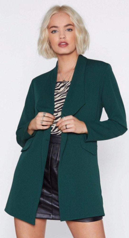 Nasty Gal Green Blazer