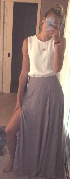 Lulus Taupe Maxi Skirt