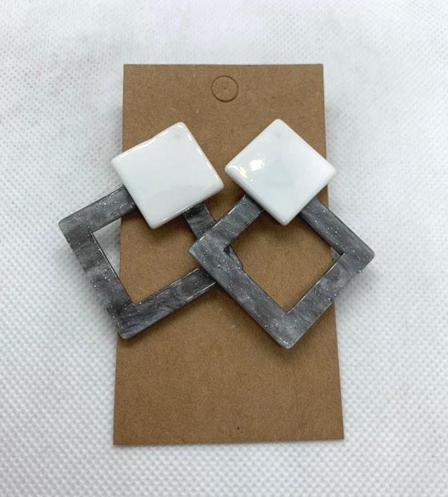 White & Gray Fashion Boho Earrings