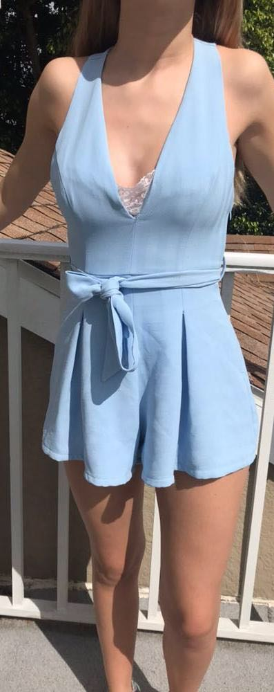 L'ATISTE Baby Blue Formal Romper