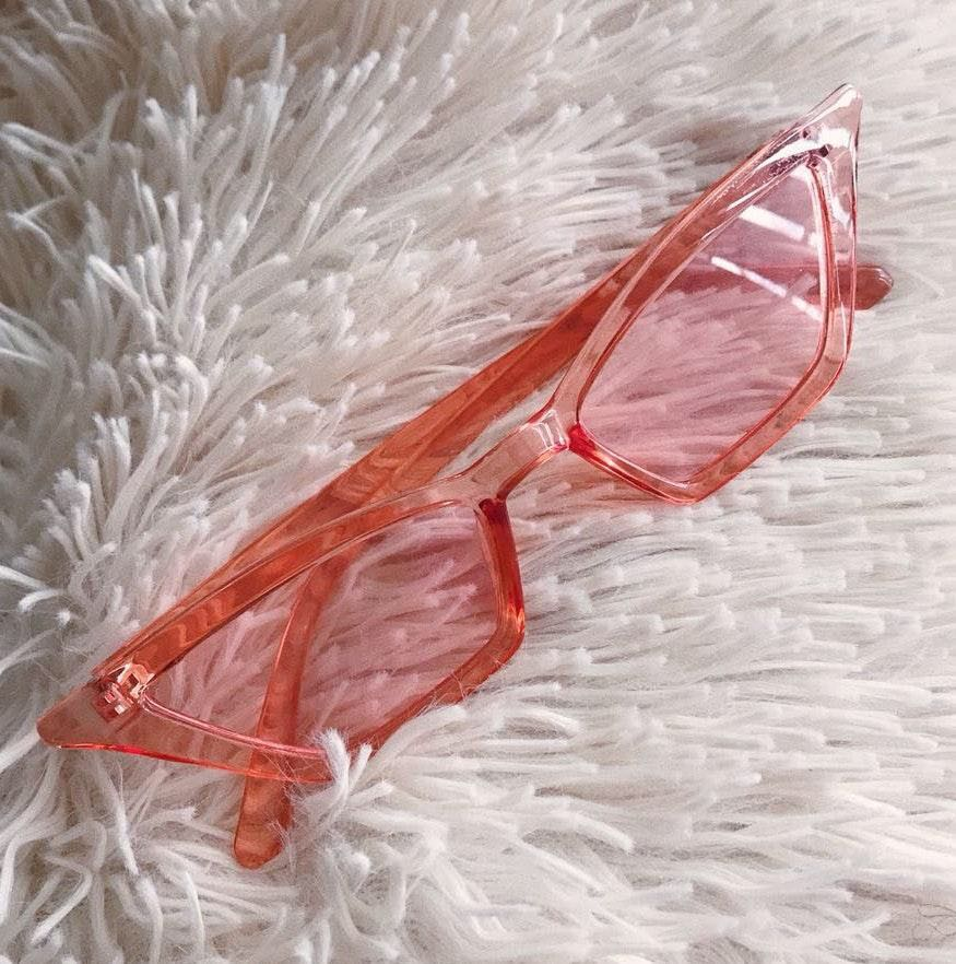 Clear Pink Sunglasses