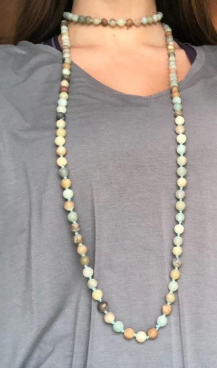 Francesca's Earth Rocks Rap Necklace