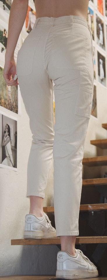 Brandy Melville White Cargo Pant