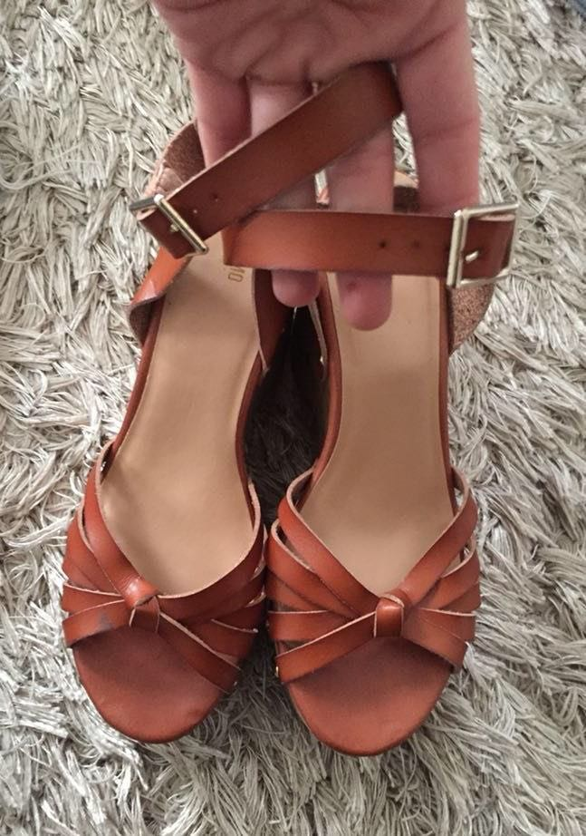 34ea23a9028 Mossimo Supply Co Brown Studded Wedges