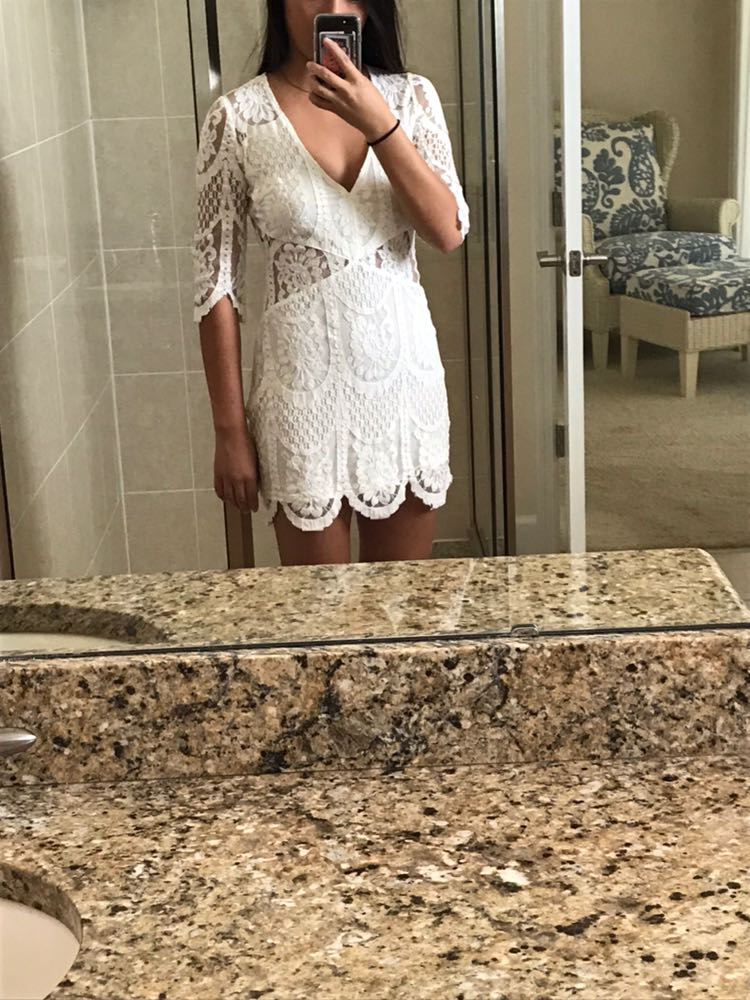 Dance & Marvel White Lace Dress