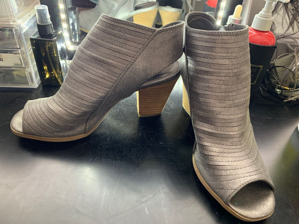 Sugar and L!ps Grey/Silver Booties