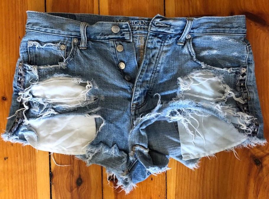 2565a1d3e5 We're the buy/sell app for cute clothes. Say to being bored of your  clothes. Home American Eagle Outfitters High Waisted Distressed Jean Shorts