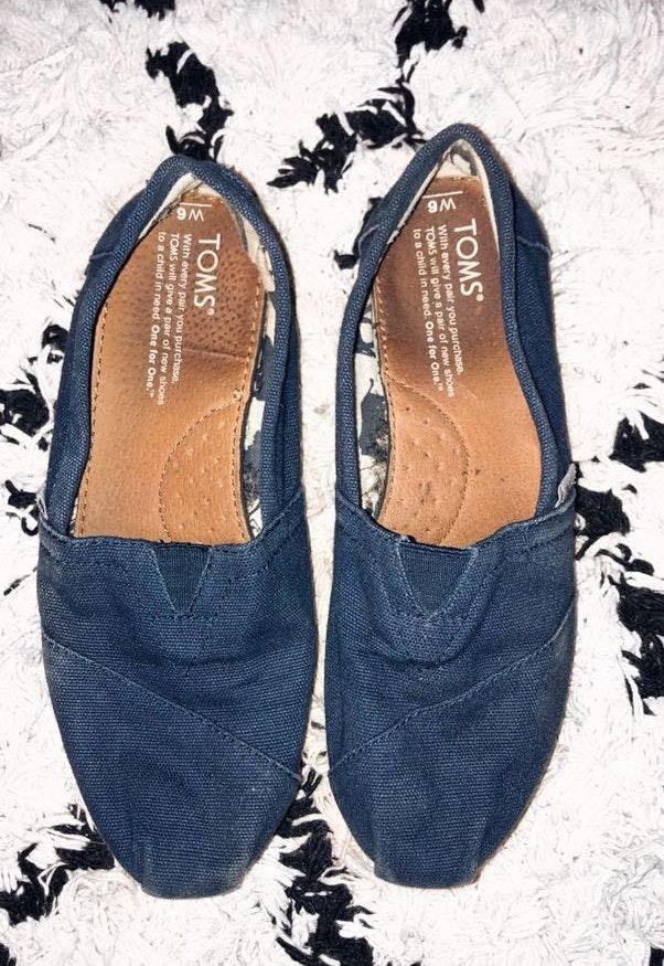 Toms Blue  Slide Ons