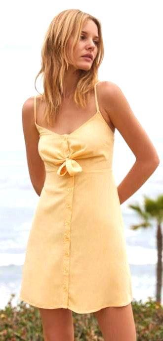 Lottie Moss Yellow Sundress