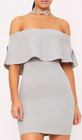 Pretty Little Thing Dove Grey Dress
