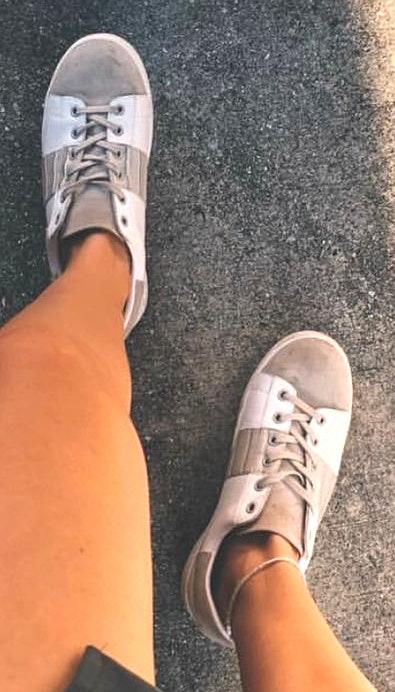 Sam Edelman White/Tan Sneakers