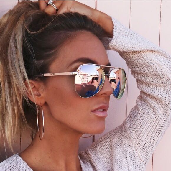 Quay Australia Vivienne Rose Gold Sunglasses