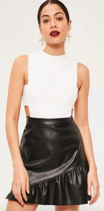 Missguided White Cut Out Bodysuit