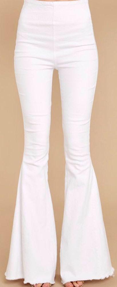 Boutique White Flare Pants