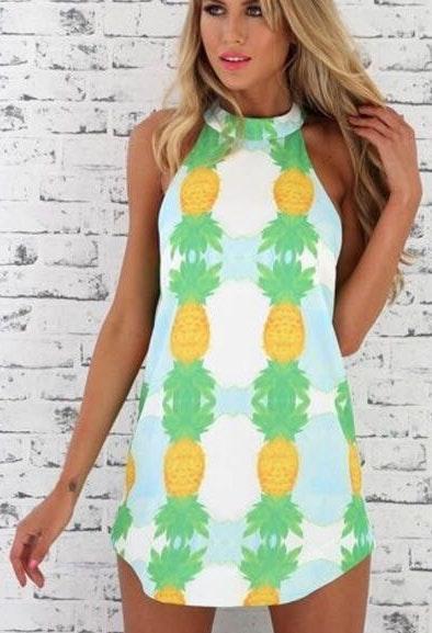 Sabo Skirt Pineapple Dress