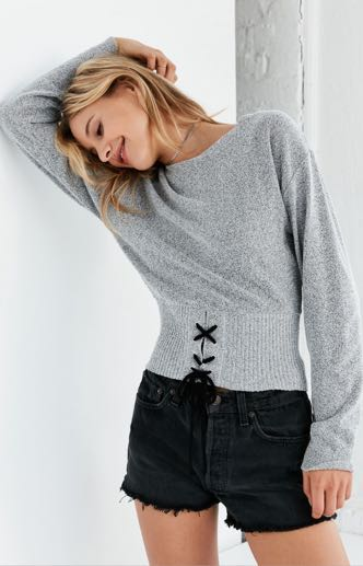 Silence + Noise Corset Pullover Sweater