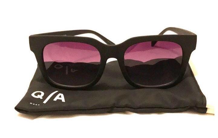 Quay Australia Matte Black Sunglasses