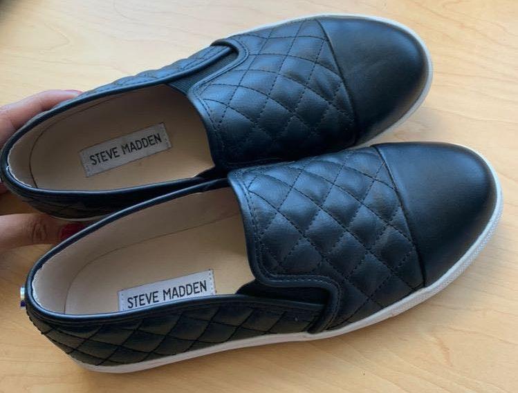 Steve Madden Leather  Slip Ons