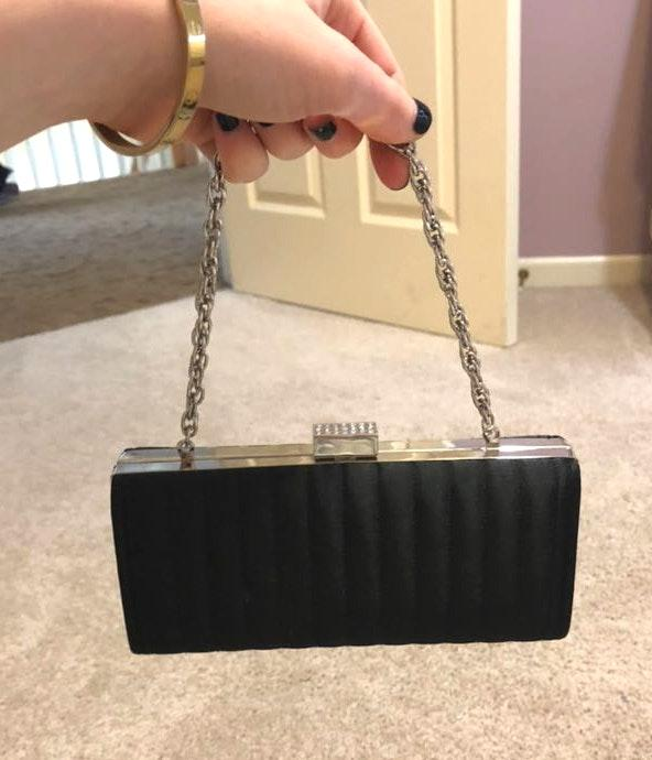 Lord and Taylor Black Clutch