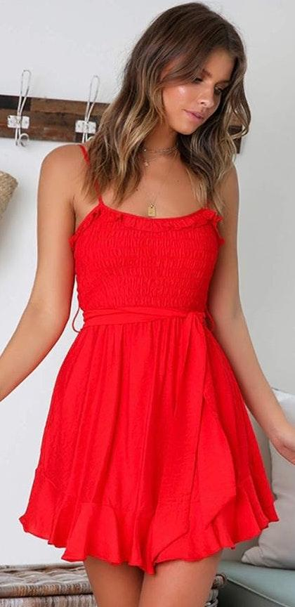 Ole Miss Game Day Red Dress