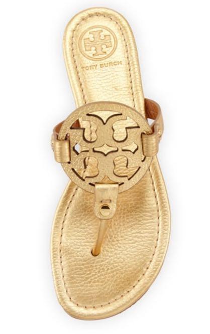 Tory Burch Miller Gold Sandals