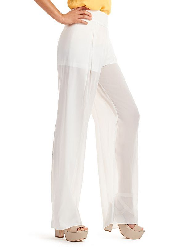 Marciano White Sheer Pants