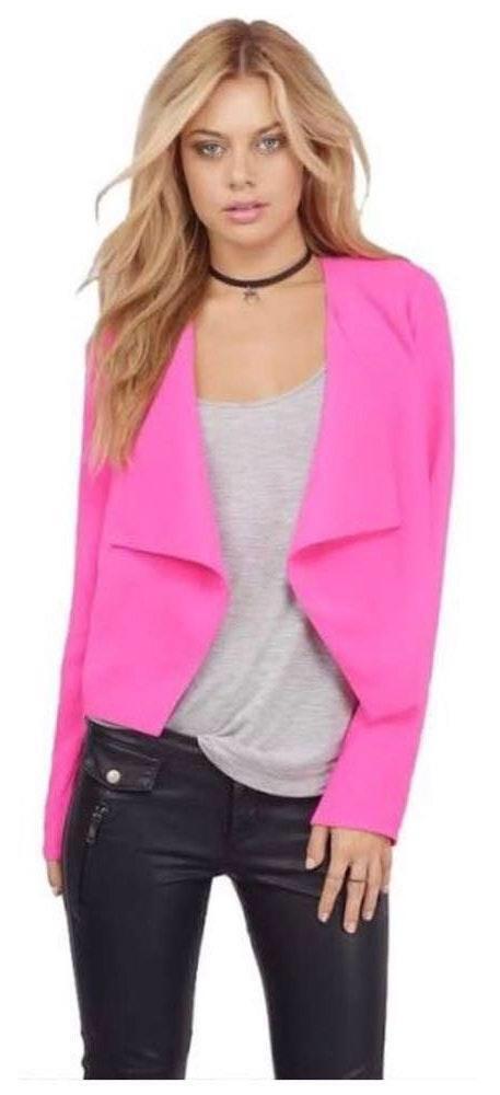 Tobi Hot Pink Blazer