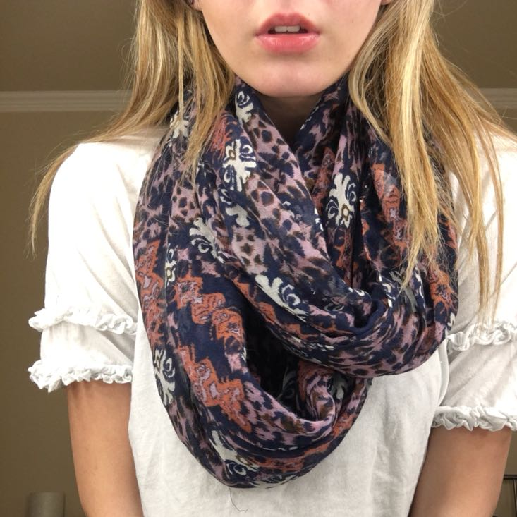 Charming Charlie Floral Scarf