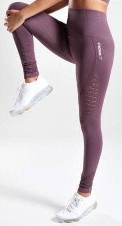 Purple Gymshark Energy + Seamless Leggings