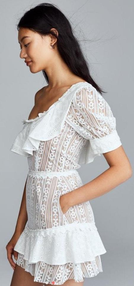 For Love & Lemons White Summer Dress