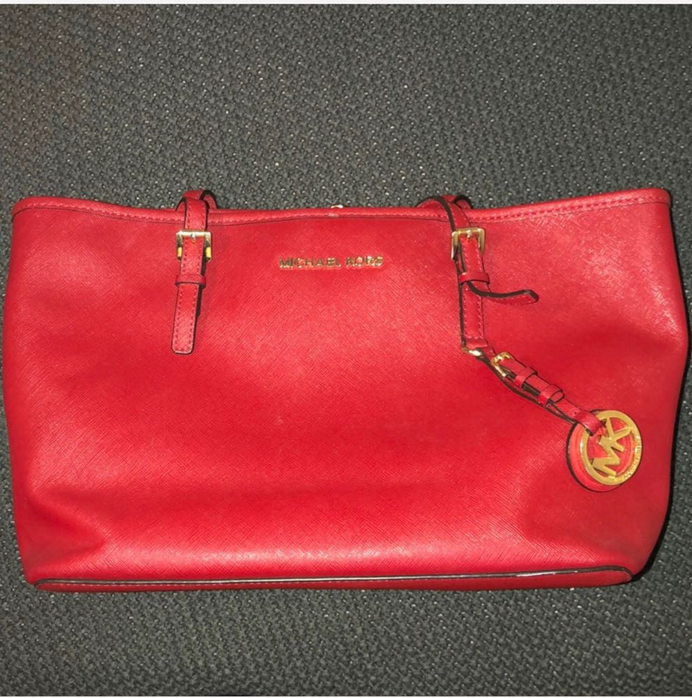Michael Kors Red Leather MK bag