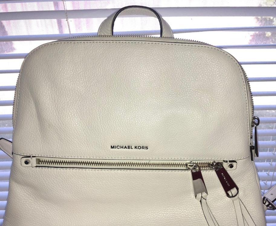 9f8cca231115 Michael Kors Micheal Kors white Backpack | Curtsy