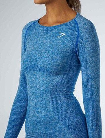 Gymshark Blue Seamless Long Sleeve Shirt